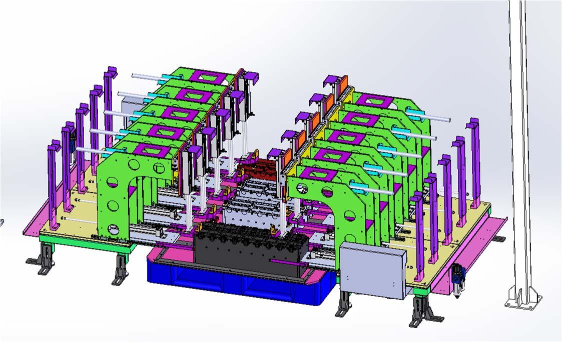 嘉興電池設備產品--電芯模組測試工裝