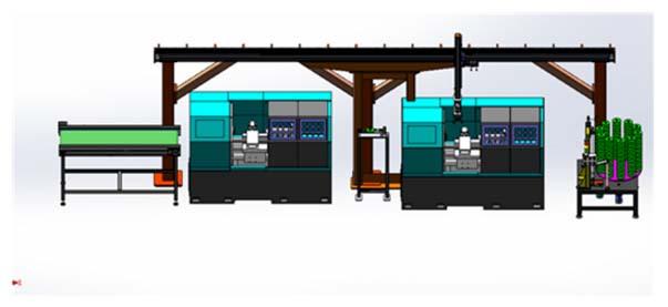 自动化流水线产品--桁架机械手自动上下料设备